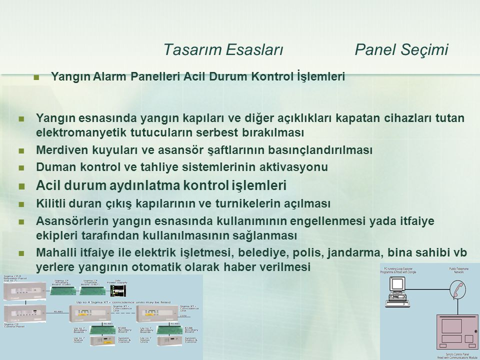 Tasarım Esasları Panel Seçimi