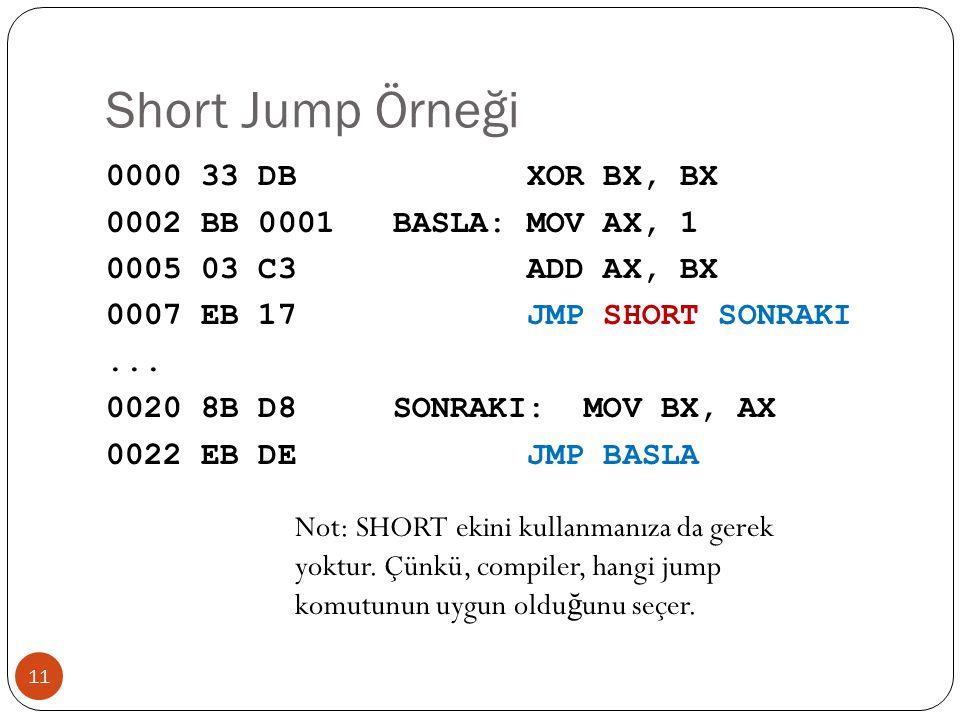 Short Jump Örneği