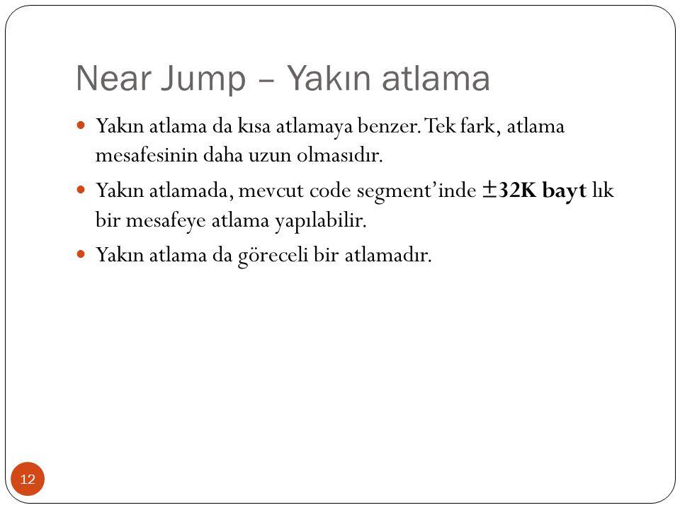 Near Jump – Yakın atlama