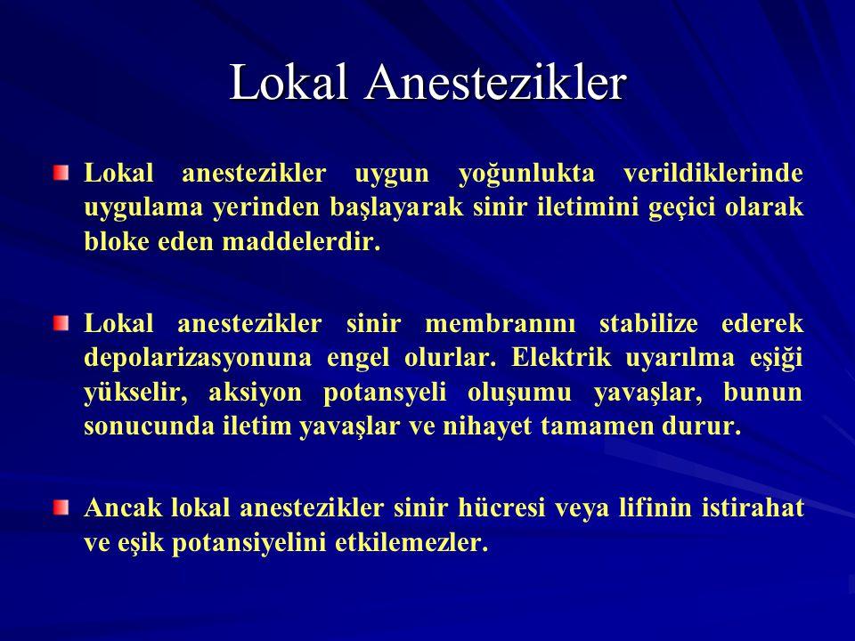 Lokal Anestezikler