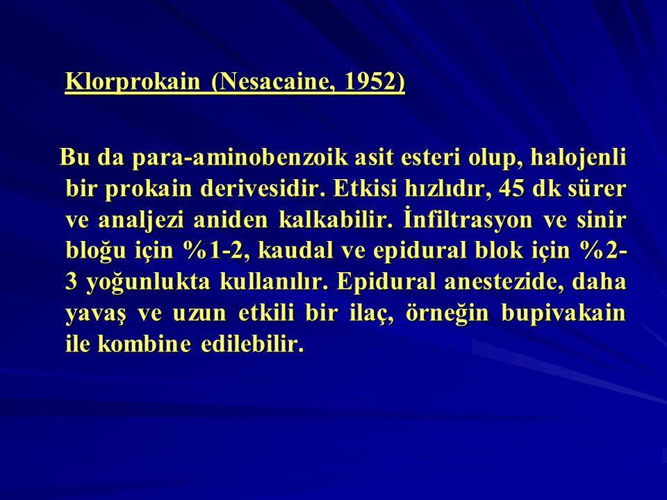 Klorprokain (Nesacaine, 1952)