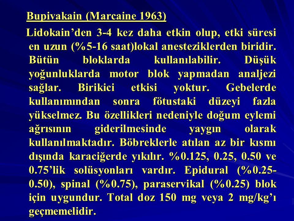 Bupivakain (Marcaine 1963)