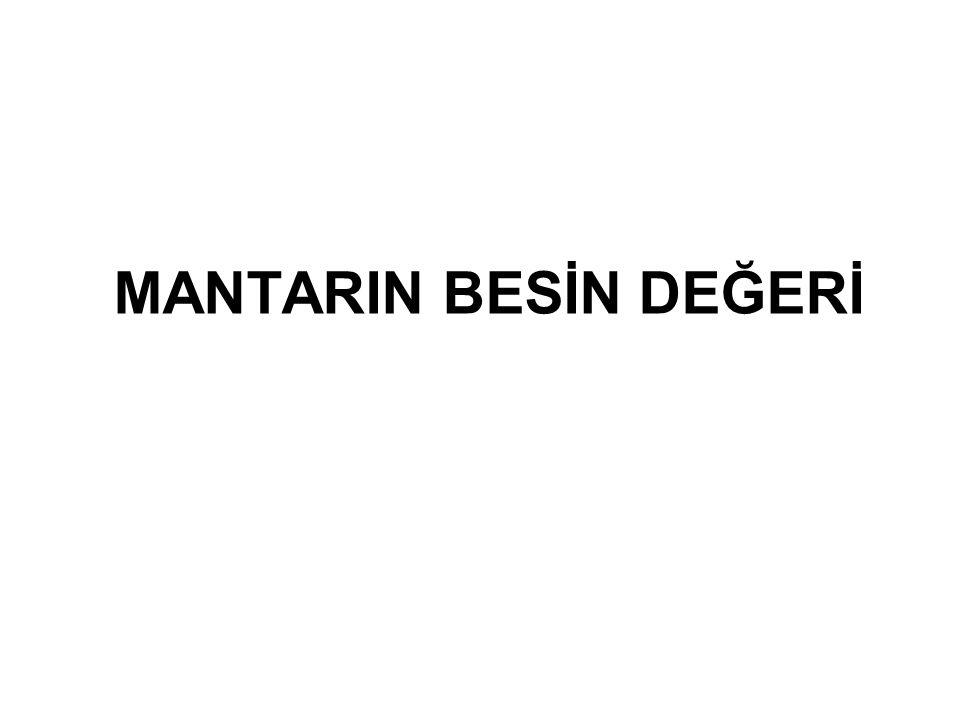 MANTARIN BESİN DEĞERİ