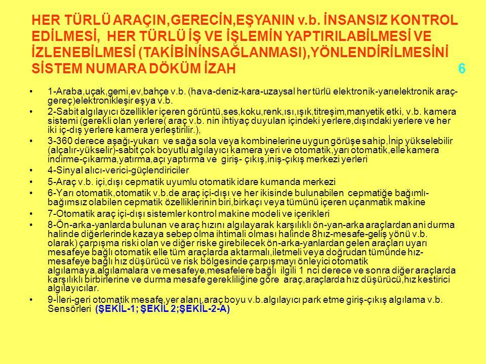HER TÜRLÜ ARAÇIN,GERECİN,EŞYANIN v. b