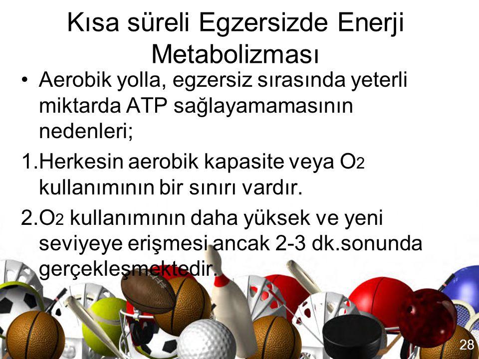 Kısa süreli Egzersizde Enerji Metabolizması