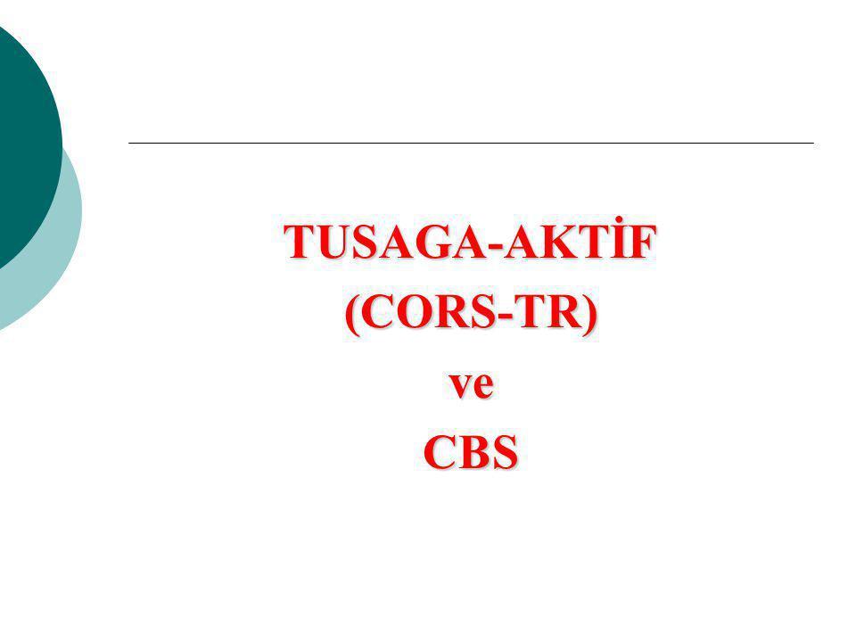 TUSAGA-AKTİF (CORS-TR) ve CBS