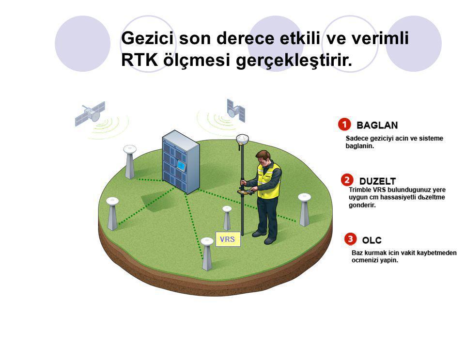Gezici son derece etkili ve verimli RTK ölçmesi gerçekleştirir.