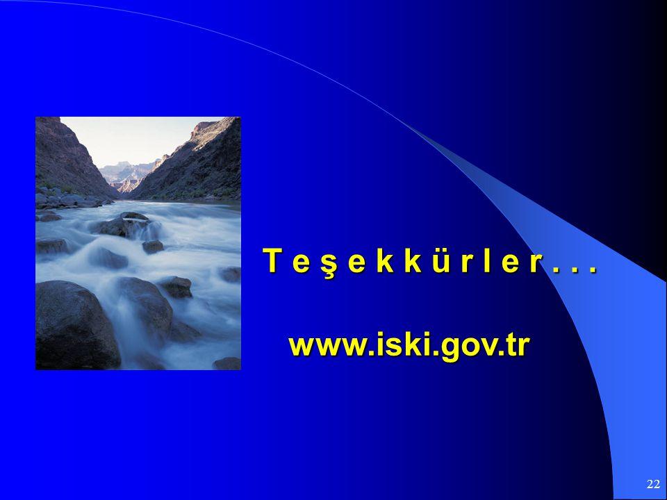 T e ş e k k ü r l e r . . . www.iski.gov.tr