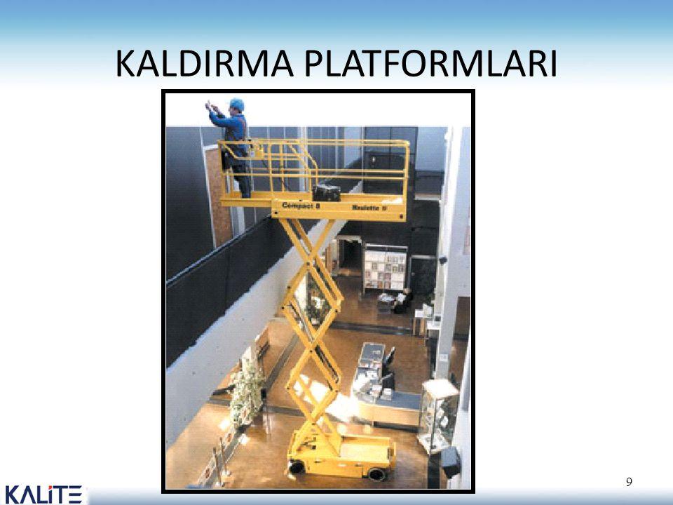 KALDIRMA PLATFORMLARI