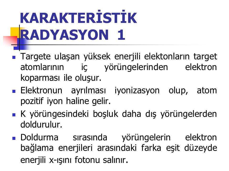KARAKTERİSTİK RADYASYON 1