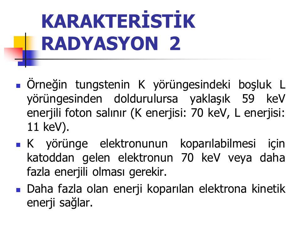 KARAKTERİSTİK RADYASYON 2