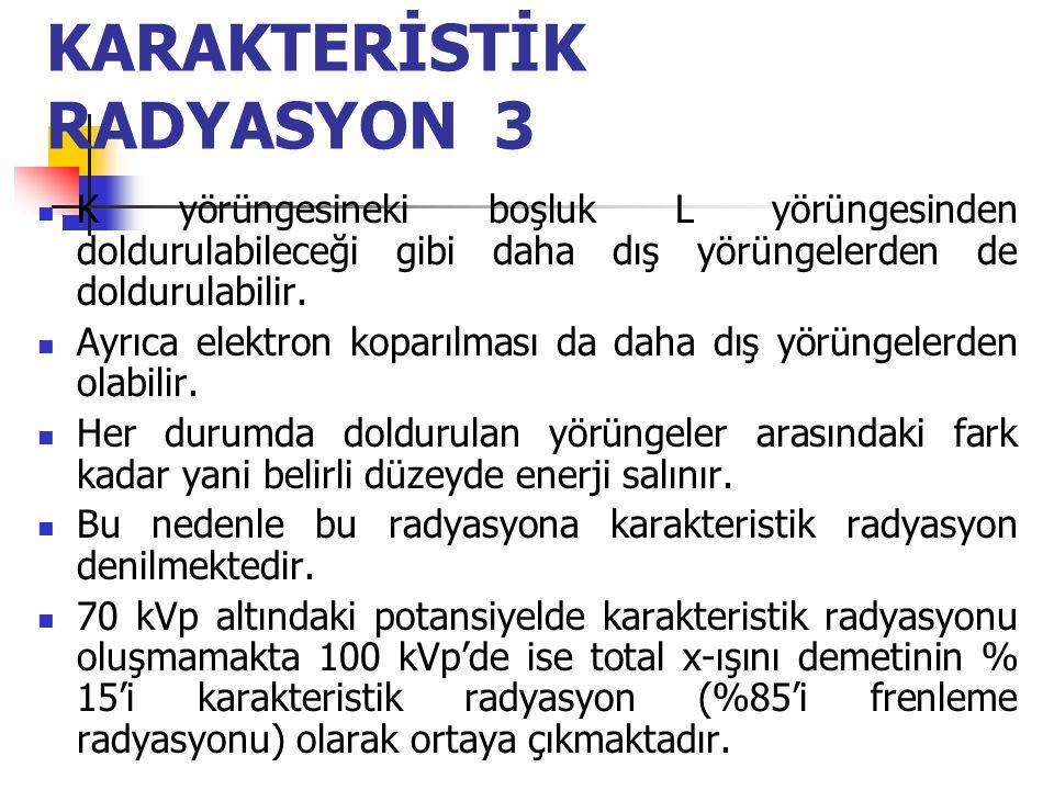 KARAKTERİSTİK RADYASYON 3