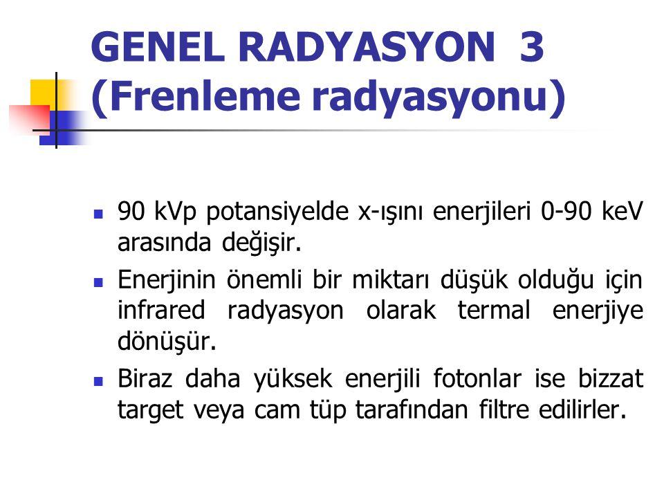 GENEL RADYASYON 3 (Frenleme radyasyonu)