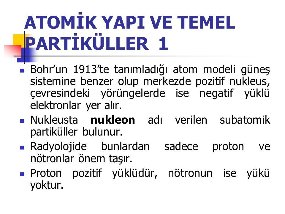 ATOMİK YAPI VE TEMEL PARTİKÜLLER 1