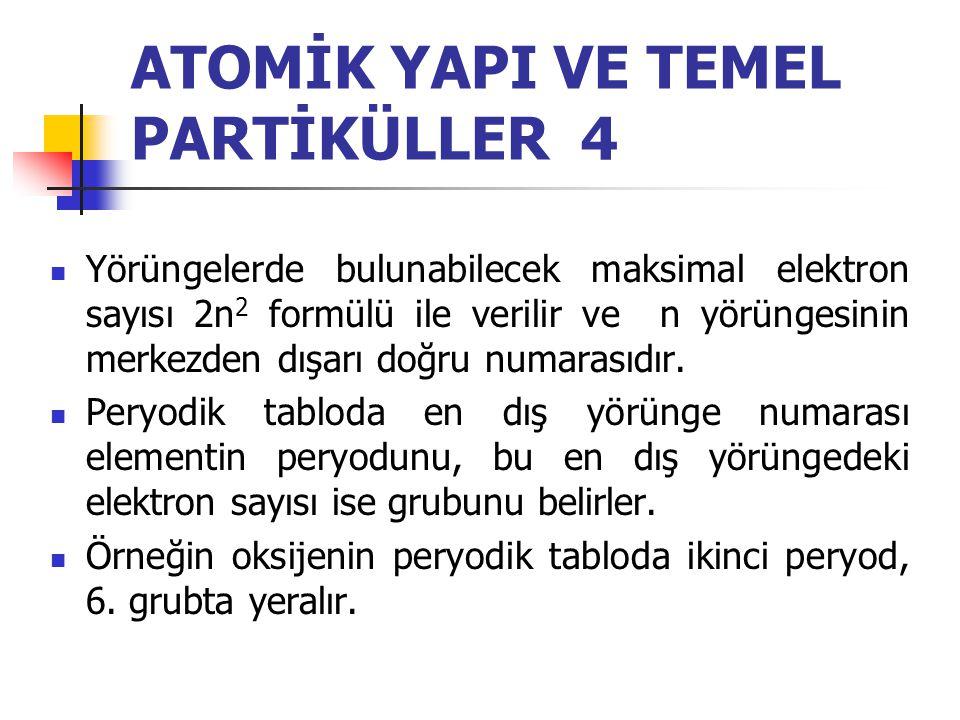 ATOMİK YAPI VE TEMEL PARTİKÜLLER 4