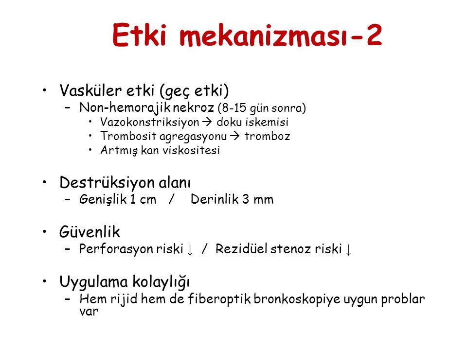 Etki mekanizması-2 Vasküler etki (geç etki) Destrüksiyon alanı