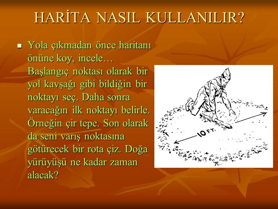 HARİTA NASIL KULLANILIR