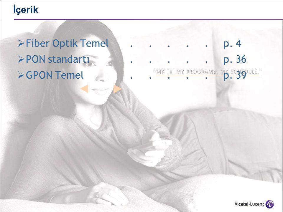 Fiber Optik Temel . . . . . p. 4 PON standartı . . . . . p. 36