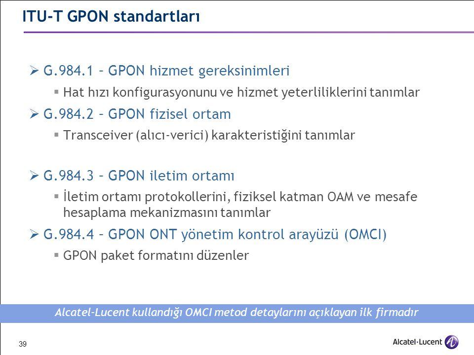 ITU-T GPON standartları