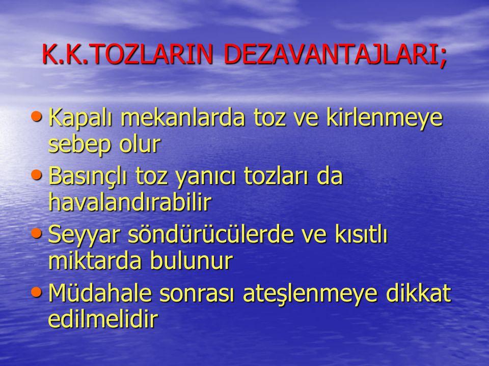 K.K.TOZLARIN DEZAVANTAJLARI;