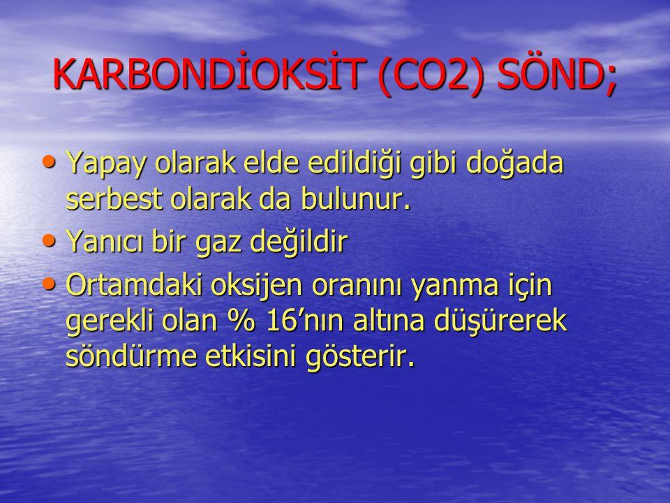KARBONDİOKSİT (CO2) SÖND;