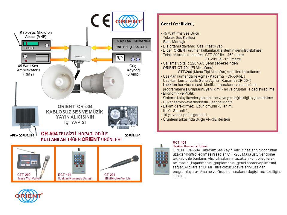CR-504 TELSİZLİ HOPARLÖR İLE