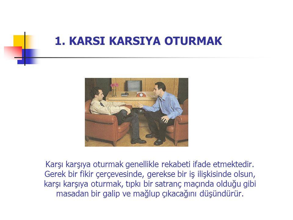 1. KARSI KARSIYA OTURMAK