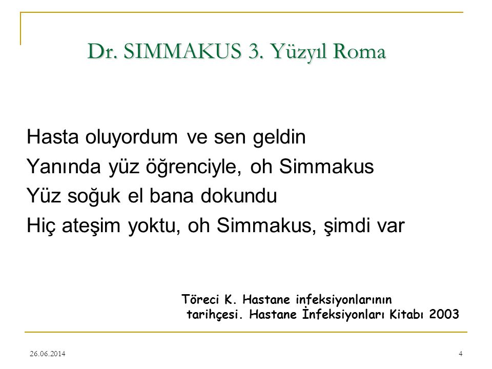 Dr. SIMMAKUS 3. Yüzyıl Roma