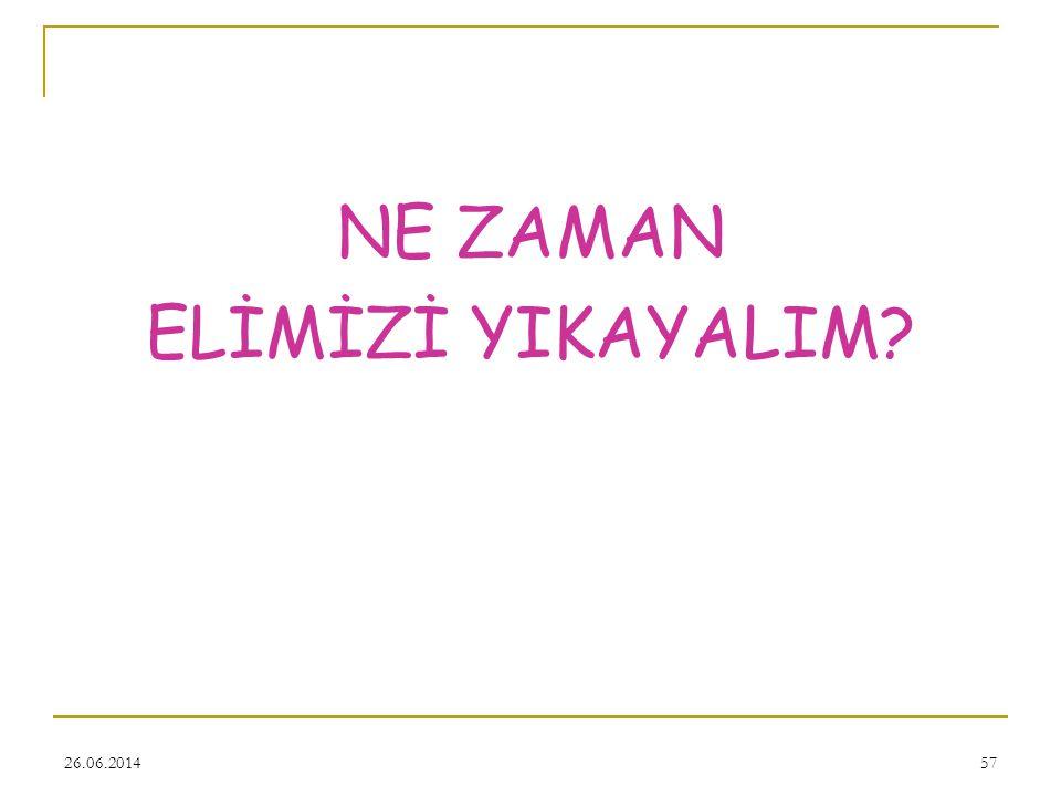 NE ZAMAN ELİMİZİ YIKAYALIM 03.04.2017