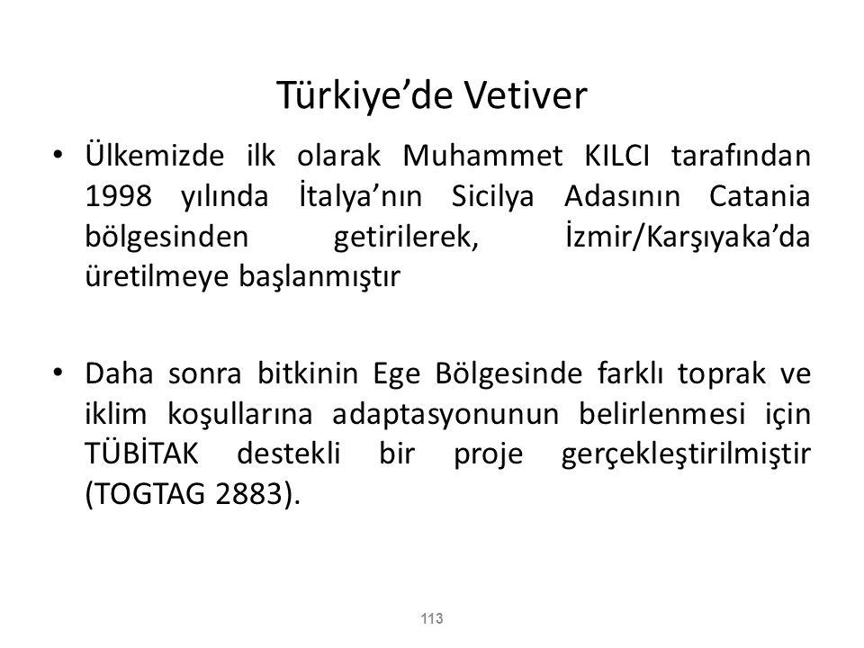 Türkiye'de Vetiver