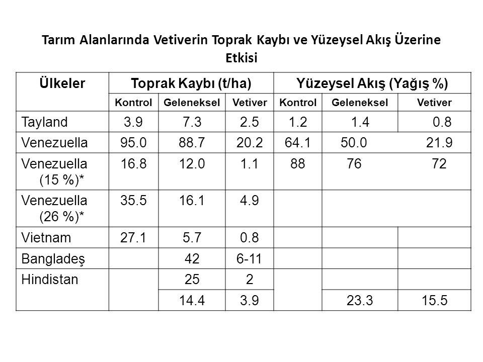 Yüzeysel Akış (Yağış %)