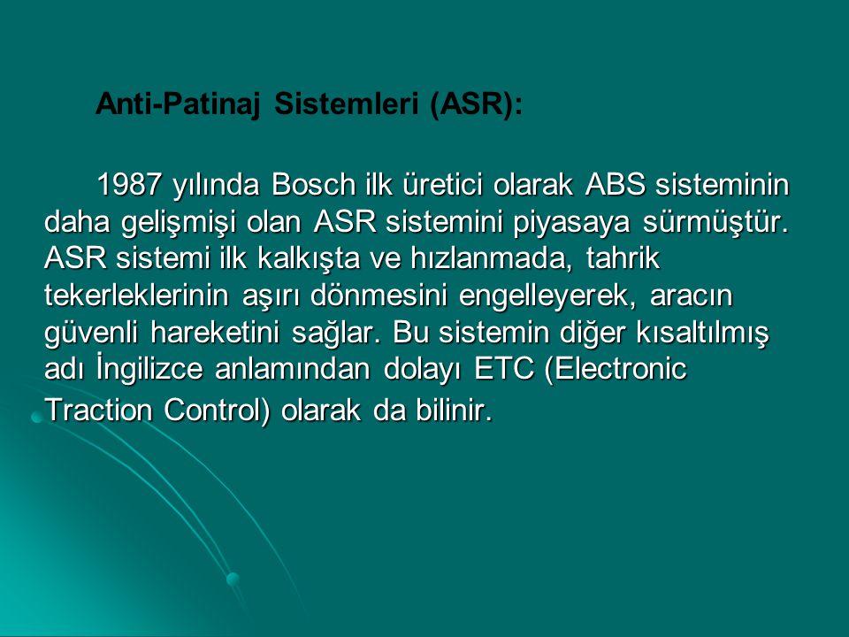 Anti-Patinaj Sistemleri (ASR):