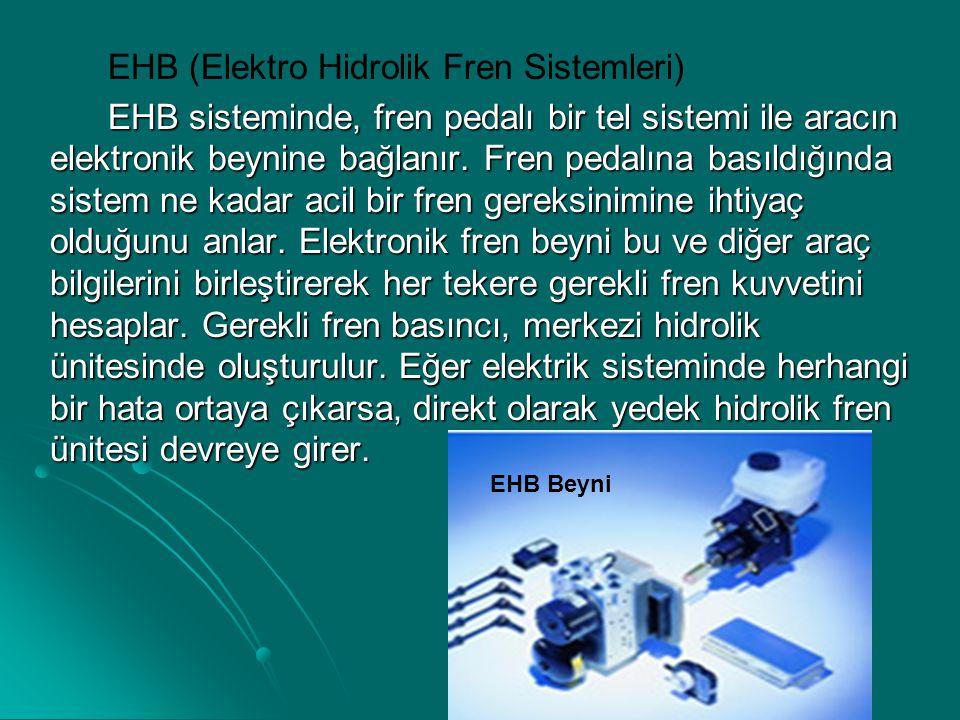 EHB (Elektro Hidrolik Fren Sistemleri)