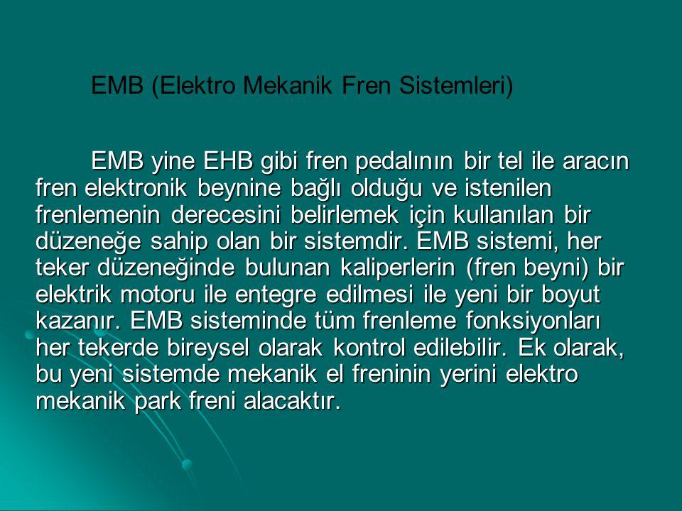 EMB (Elektro Mekanik Fren Sistemleri)