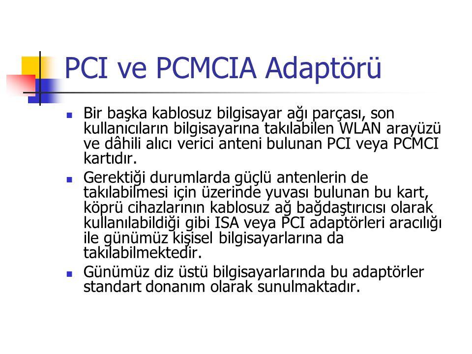 PCI ve PCMCIA Adaptörü