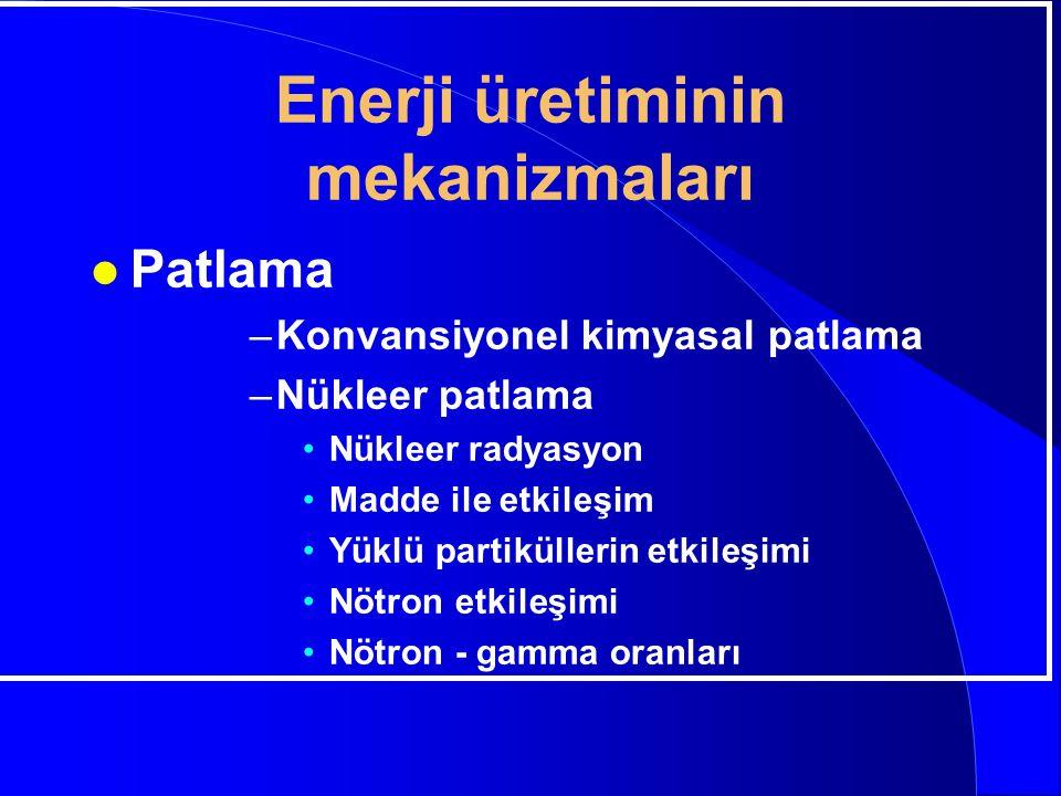 Enerji üretiminin mekanizmaları