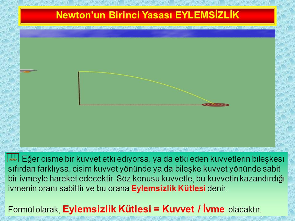 Newton'un Birinci Yasası EYLEMSİZLİK