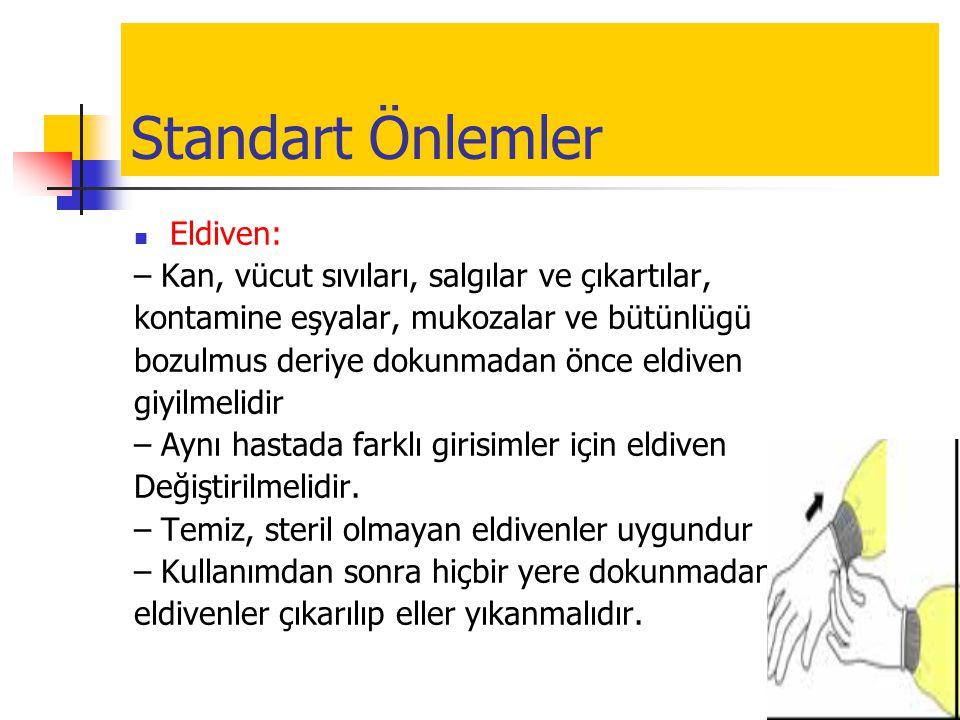 Standart Önlemler Eldiven: