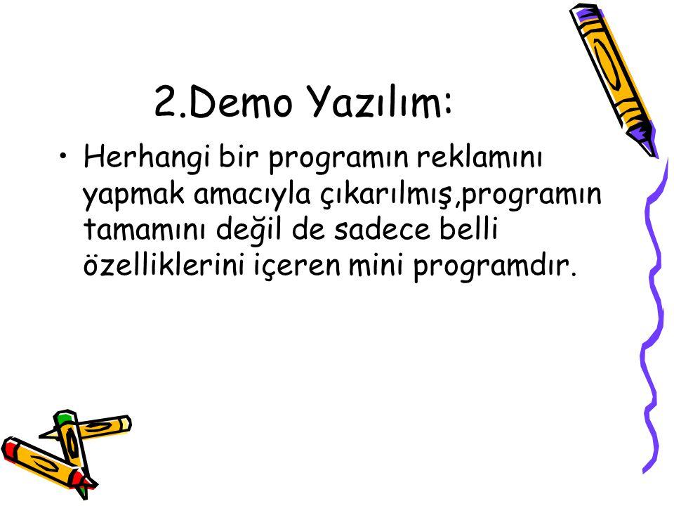 2.Demo Yazılım: