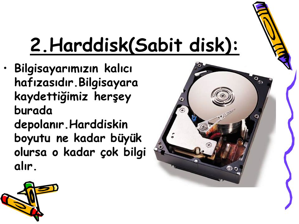 2.Harddisk(Sabit disk):