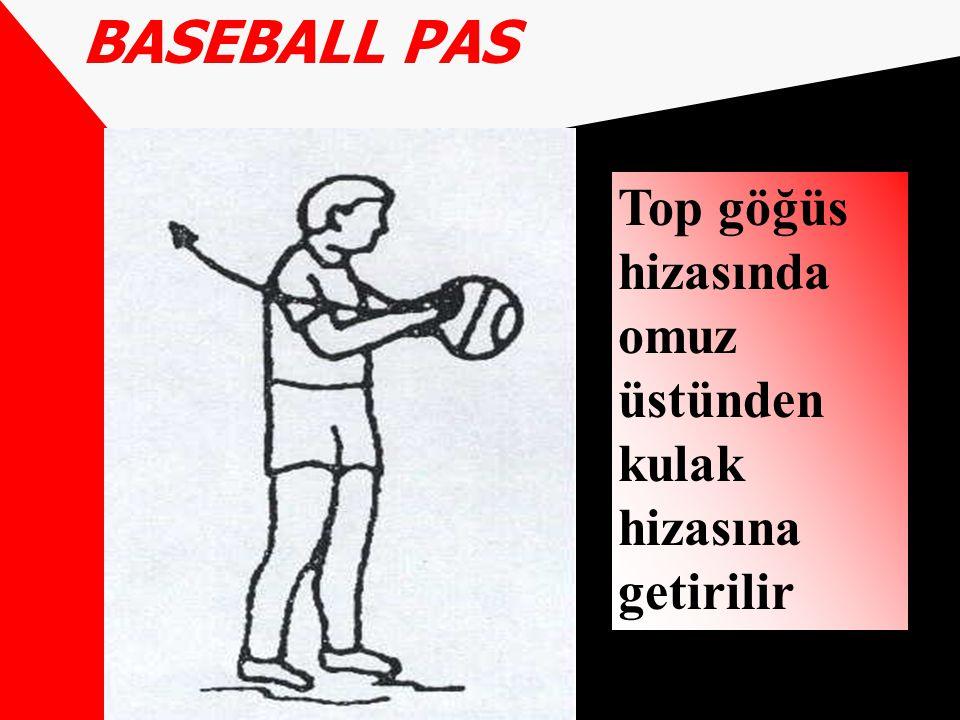 BASEBALL PAS Top göğüs hizasında omuz üstünden kulak