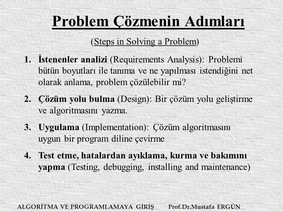 Problem Çözmenin Adımları
