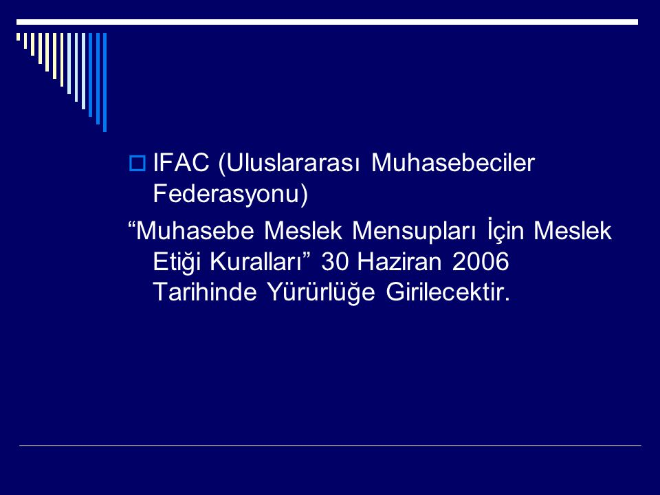 IFAC (Uluslararası Muhasebeciler Federasyonu)