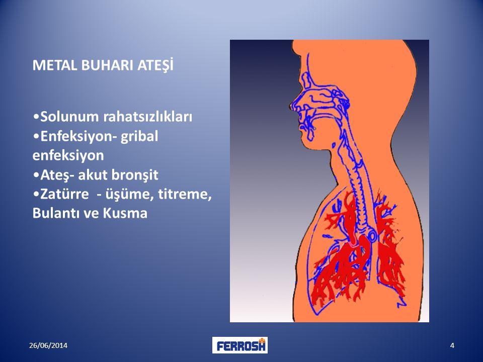 Solunum rahatsızlıkları Enfeksiyon- gribal enfeksiyon