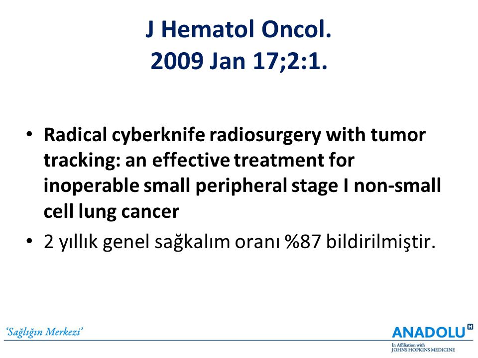 J Hematol Oncol. 2009 Jan 17;2:1.
