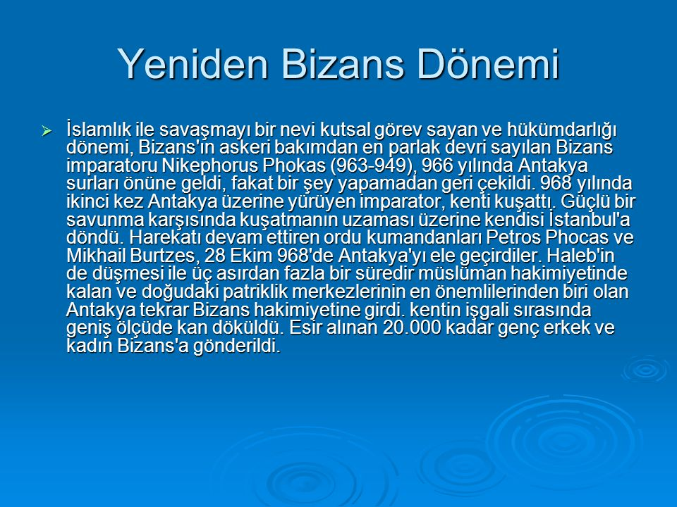 Yeniden Bizans Dönemi