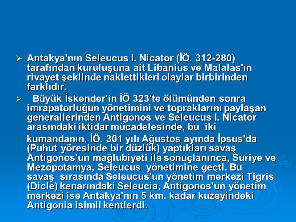 Antakya nın Seleucus I. Nicator (İÖ