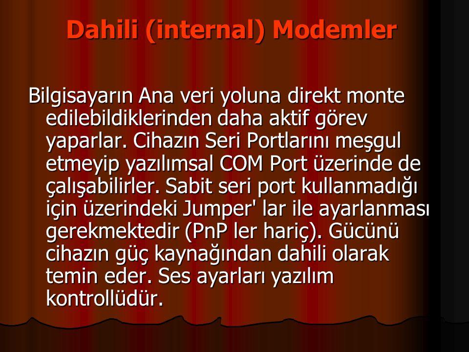 Dahili (internal) Modemler