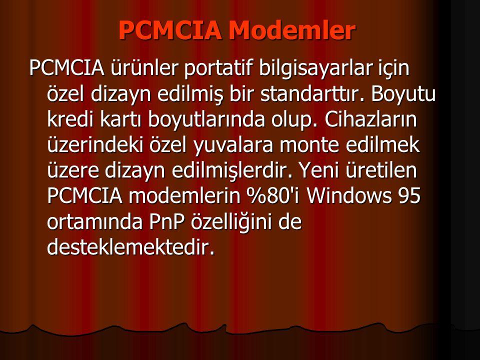 PCMCIA Modemler