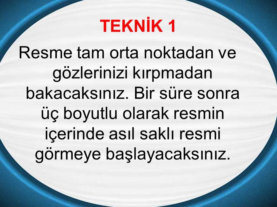 TEKNİK 1